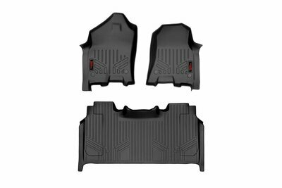 Heavy Duty Floor Mats [Front/Rear] - (19-20 Ram 1500 | Crew Cab | Full Console w/ Rear Under Seat Storage))