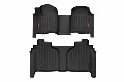 Heavy Duty Floor Mats [Front/Rear] - (19-20 Chevy Silverado / GMC Sierra Crew Cab | Bench Seats)