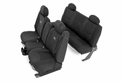 GM Neoprene Front & Rear Seat Cover Combo | Black [99-06 1500]