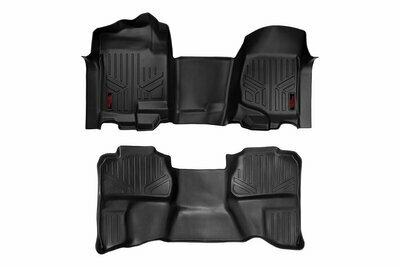 GM Heavy Duty Floor Mats [Front/Rear] - (07-13 Silverado / Sierra | 07-14 HD | Ext. Cab | Bench Seat)