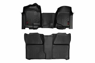 GM Heavy Duty Floor Mats [Front/Rear] - (07-13 Silverado / Sierra | 07-14 HD | Crew Cab | Bench Seat)