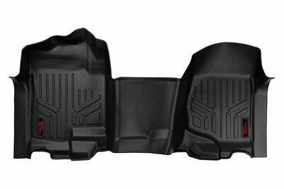 Heavy Duty Floor Mats [Front] - (07-13 Chevy Silverado / GMC Sierra | Bench Seats)