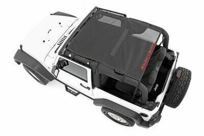 Jeep Wrangler JK Mesh Bikini Top Plus (07-18 2-Door | Black)