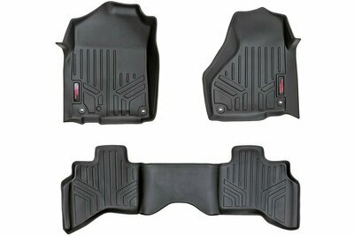 Heavy Duty Floor Mats [Front/Rear] - (12-18 Dodge Ram 1500 | Quad Cab | Full Console)