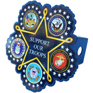 Support Our Troops Hitch Plug