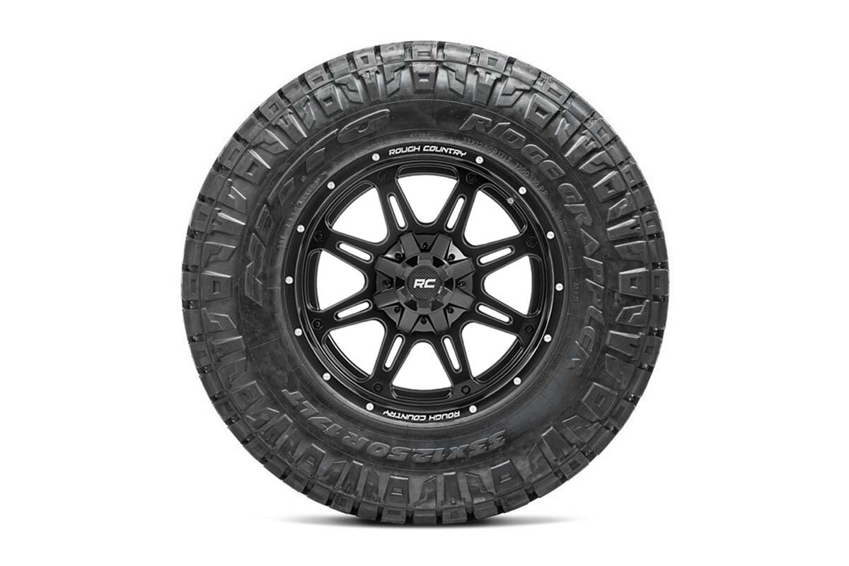Nitto 35x12.50R20 Ridge Grappler w/ Rough Country Series 94  20x10 Combo (8x6.5)