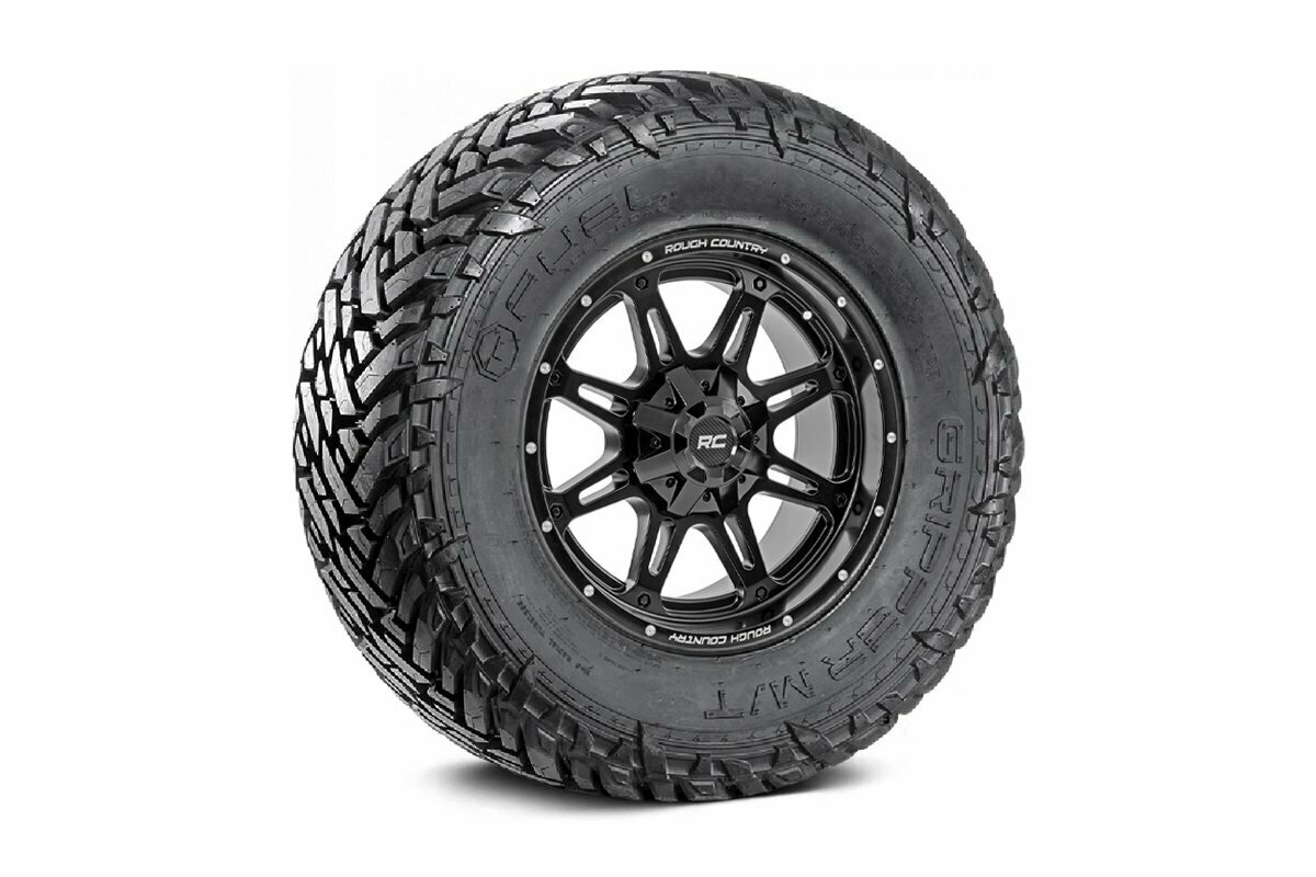 Fuel Gripper 33x12.50 M/T w/ Rough Country Series 94  20x9 Combo (6x5.5 / 6x135)