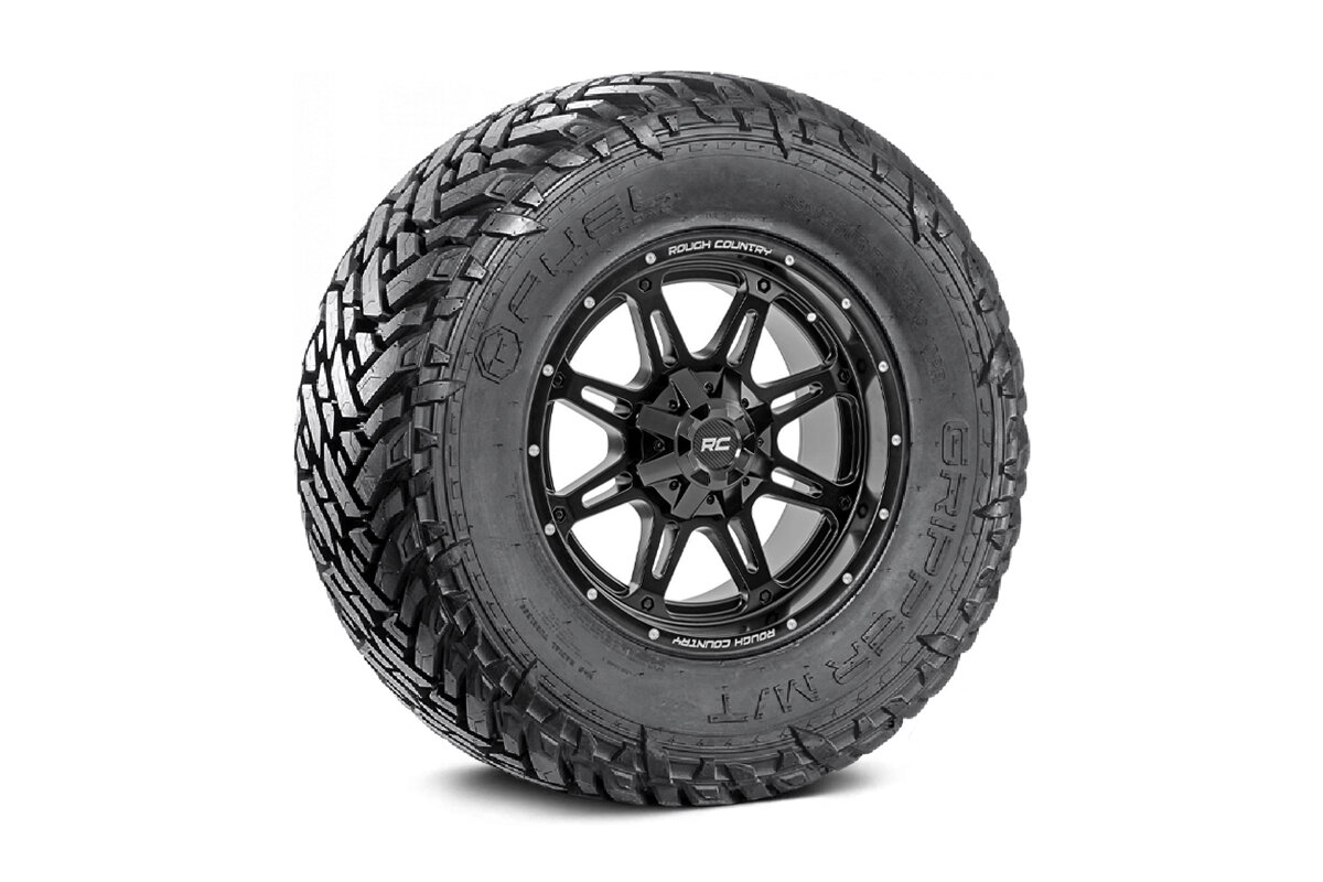 Fuel Gripper 35x12.50 M/T w/ Rough Country Series 94  20x10 Combo (6x5.5 / 6x135)