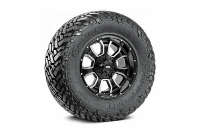 Fuel Gripper 35x12.50 M/T w/ Rough Country Series 93 20x10 Combo (6x5.5 / 6x135)