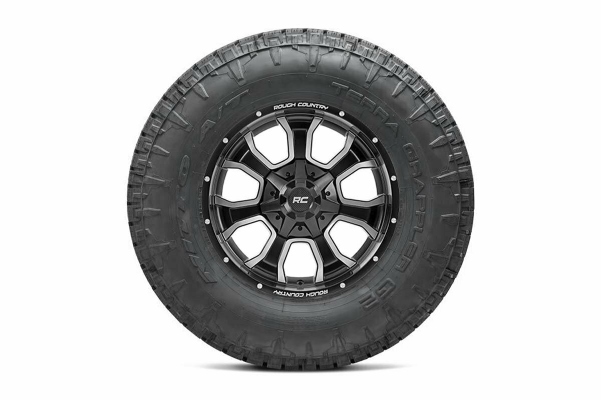 Nitto 35x12.50R20 Terra Grappler G2 w/ Rough Country Series 93 20x9 Combo (6x5.5 / 6x135)
