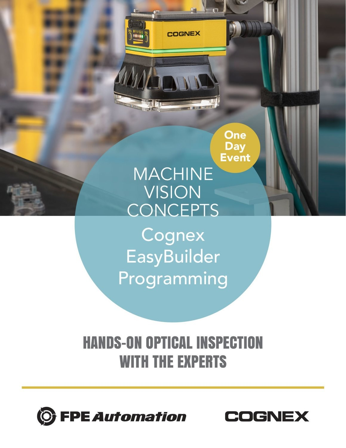 One Day Event: Machine Vision Concepts and Cognex EasyBuilder Programming