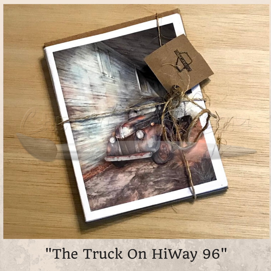 The Truck On HiWay 96 Greeting Card