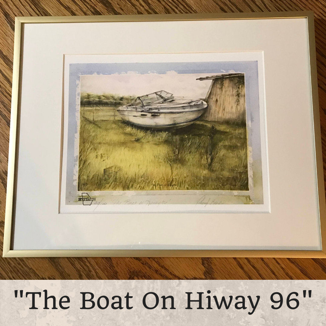 """'The Boat On HiWay 96""""  Framed 8 x 10"""