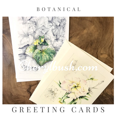 Botanical Watercolor Greeting Cards