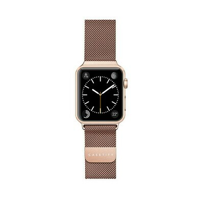 Bracelet Apple Watch en Acier Inoxydable 44/42mm Al D'or de Casetify