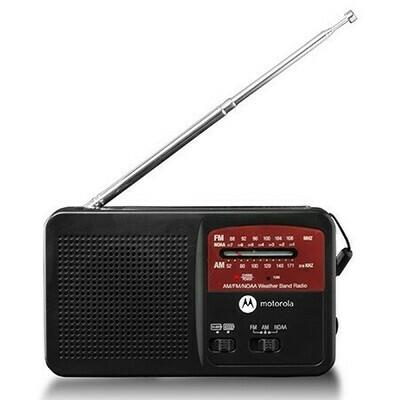 Radio météo AM / FM rechargeable avec lampe de poche ATMOS MWR800C de Motorola