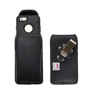 Étui à pince vertical en cuir pour iPhone 6/6S/7/8, noir DE Turtleback