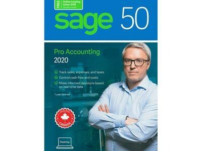 Logiciel de comptabilité professionnelle SAGE 50 2020 CA PRO CPRO2020RT de SAGE