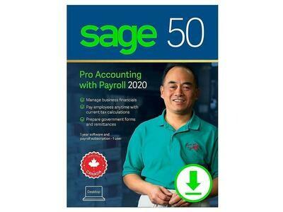 Logiciel de comptabilité et paie pro version téléchargeable CPRO2020ESDCSRT de Sage