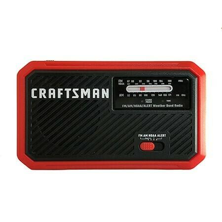 Radio météo NOAA rechargeable CMXZRAZW822 de Craftsman