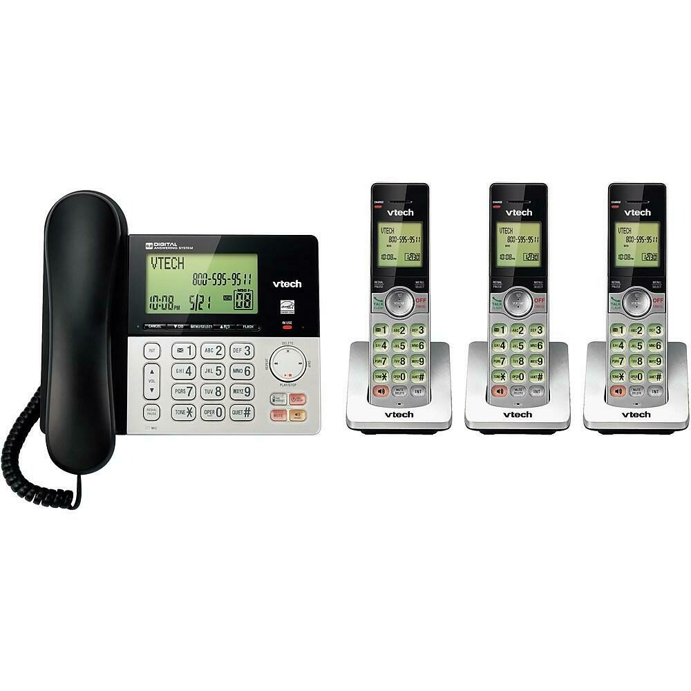 Vtech (CS6949-3) 3 Handset Corded/Cordless Phones with Answering System