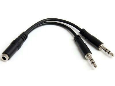 Câble séparateur de casque 4 broches de 3,5 mm vers 2 x 3 broches de 3,5 mm - F/M de Startech