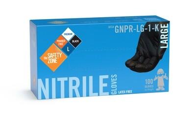 Gants noir nitrile X-LARGE N2434 boîte de 100 de The Safety Zone ®