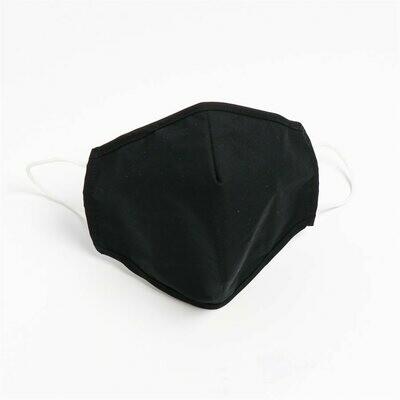 Masques lavables et réutilisables en tissu non-médical (50%Cotton50%Polyester) noir (Paquet de 5) de Hörst