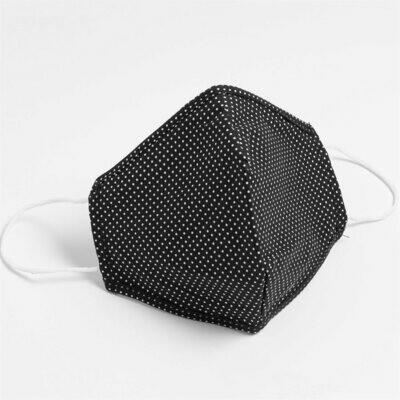 Masques lavables et réutilisables en tissu non-médical (100% Coton) Noir (Paquet de 5) de Hörst