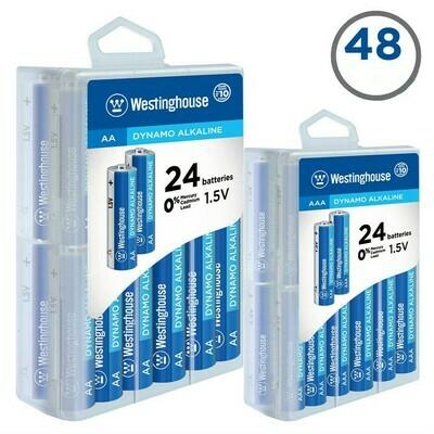 Enssemble de batteries 1 pq: 24 X  AAA et 1 pq: 24 X AA de Westinghouse