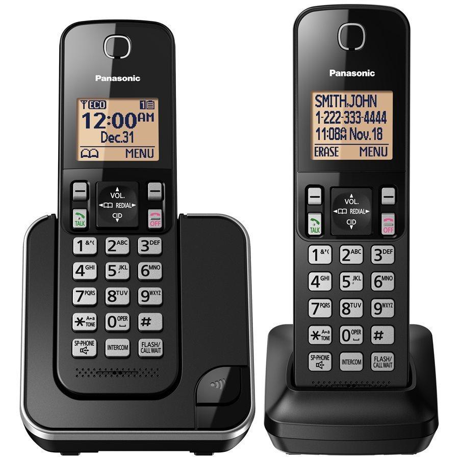 Système téléphonique sans fil numérique avec 2 combinés de Panasonic