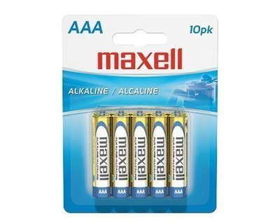 Batteries alcaline format AAA de Maxell paquet de 10