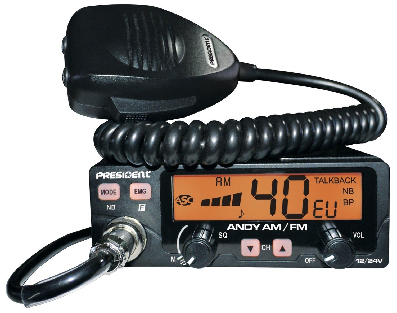 Poste de radio-CB ANDY AM/FM TXUS066 de PRESIDENT ELECTRONICS