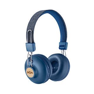 Casque d'écoute Bluetooth Positive Vibration, bleu denim de The House of Marley