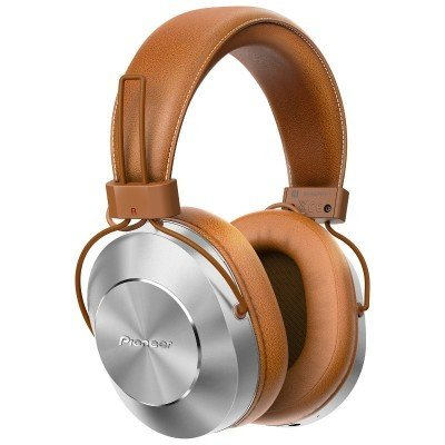 Casque Over-Ear haute résolution Bluetooth et microphone cuir brun de Pioneer
