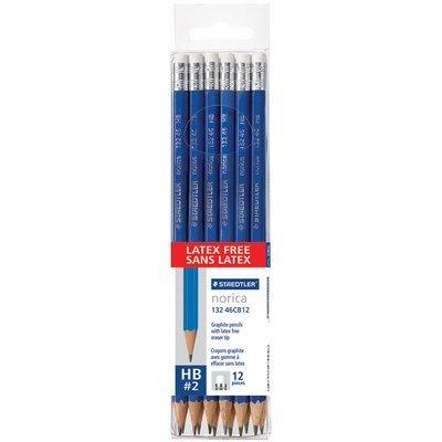 Crayons sans latex Norica bleu de Staedtler