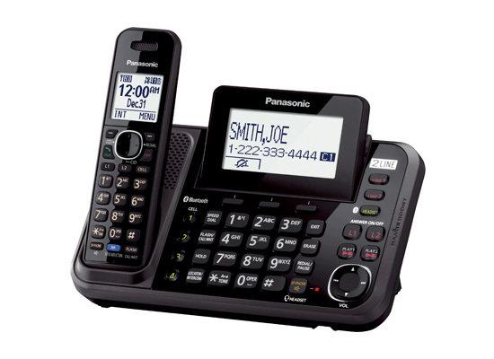 Téléphone sans fil à 2 lignes avec liaison cellulaire  KX-TG9541B de Panasonic