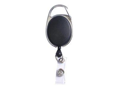 Dévidoir pour carte d'identité à pince rapide - 1 pièce - noir de SICURIX