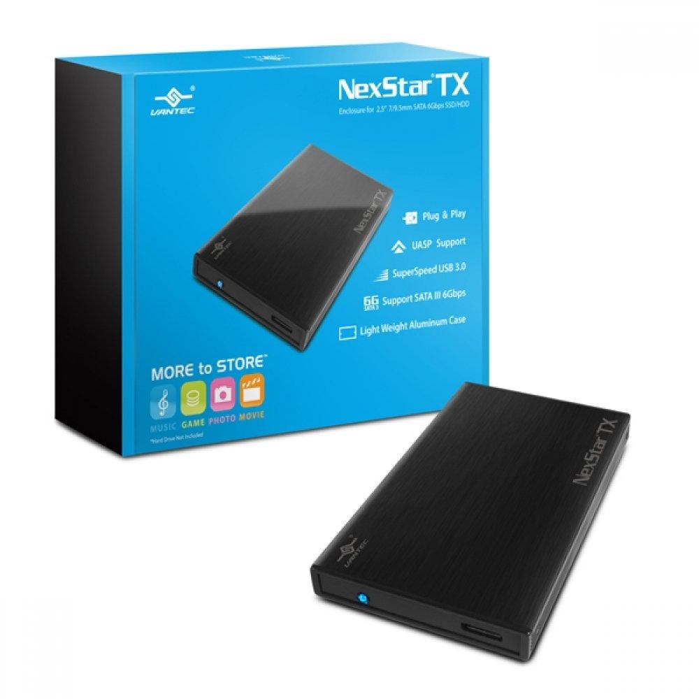 """Boîtier externe de disque dur NexStar® TX USB 3.0 pour disque dur / SSD SATA III 2.5 """"de 9,5 mm et 7 mm de Vantec"""