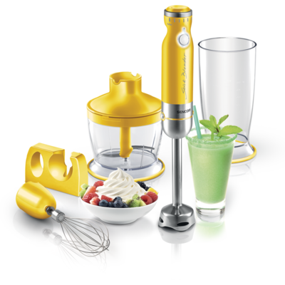 Mixeur plongeant jaune de Sencor