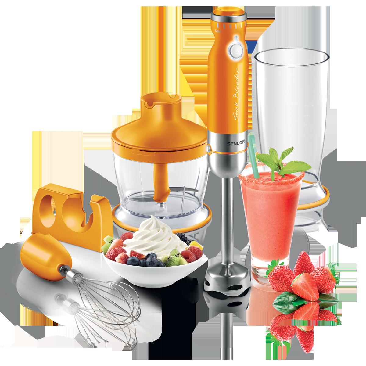 Mixeur plongeant orange de Sencor