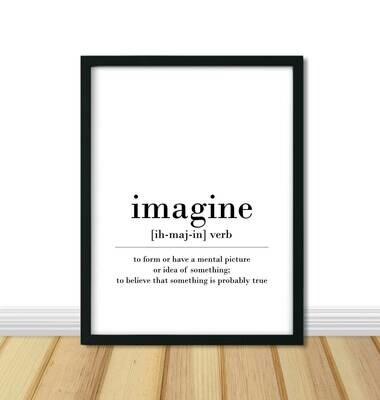 Printable Wall Art, Definition - Imagine