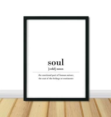 Printable Wall Art, Definition - Soul