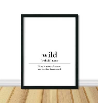 Printable Wall Art, Definition - Wild