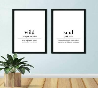 Printable Wall Art, Definition - Wild Soul