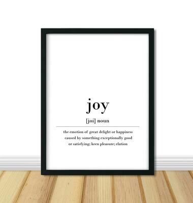 Printable Wall Art, Definition - Joy