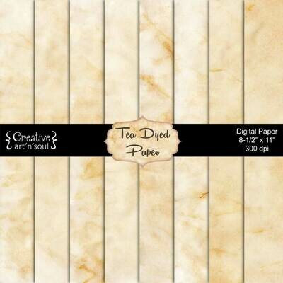Tea Dyed Printable Paper Pack PP1221