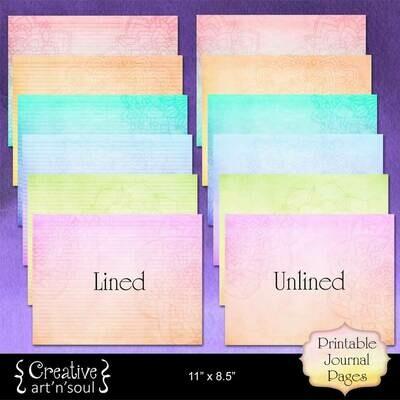 Mandala Rainbow Printable Writing Paper 11