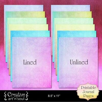 Mandala Rainbow Printable Writing Paper 8.5