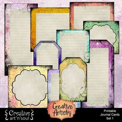 Creative Artistry Printable Journal Cards Set 1